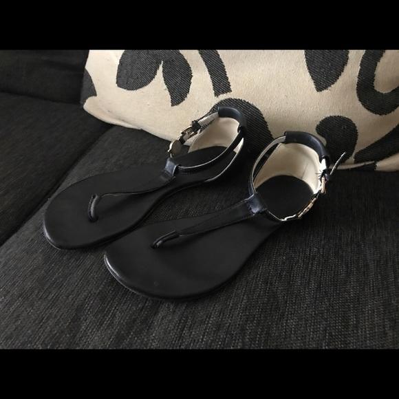 b88812b015c Michael Kors - Black and Cognac Thong Sandal! M 5ab166fa739d48ac8f1913cc